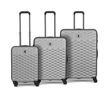 Lumen Hardside Luggage Set Silver